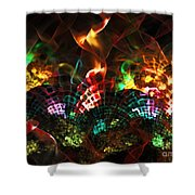 Fireplace Shower Curtain