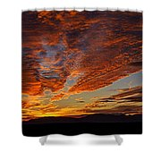 Firery Desert Skies  Shower Curtain