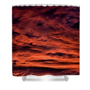 Fires At Dusk Shower Curtain