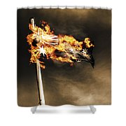 Fires Of Australian Oppression Shower Curtain
