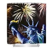 Fires Of Liberty Shower Curtain