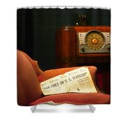 Fireside Chats With Fdr 01 Shower Curtain