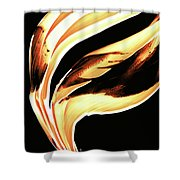 Firewater 2 - Buy Orange Fire Art Prints Shower Curtain
