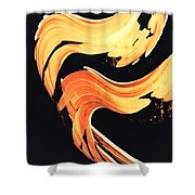 Firewater 5 - Abstract Art By Sharon Cummings Shower Curtain