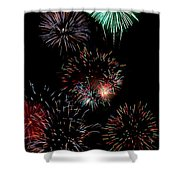 Colorful Explosions No2 Shower Curtain
