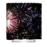 Firework - Saint Denis - Ile De La Reunion - Reunin Island - Indian Ocean Shower Curtain