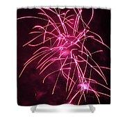 Rockets Red Glare Fireworks Shower Curtain