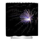 Fireworks 1 Shower Curtain by Sandy Swanson