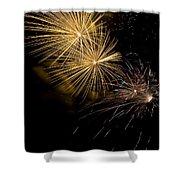 Fireworks 20 Shower Curtain by Sandy Swanson
