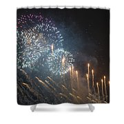 Fireworks-2887 Shower Curtain