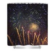 Fireworks-3027 Shower Curtain
