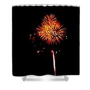 Fireworks 4th Of July Avon Pier Hatteras Island 3 Shower Curtain