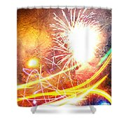 Fireworks As A Painting Shower Curtain