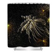 Fireworks As I See Them  Shower Curtain by F Leblanc