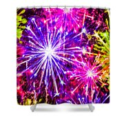 Fireworks At Night 7 Shower Curtain