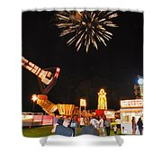 Fireworks At The Carnival Shower Curtain