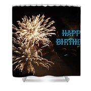 Fireworks Birthday Shower Curtain