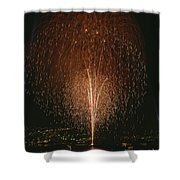 Fireworks Display Over Lake Union  Shower Curtain