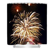 Fireworks Shower Curtain by Elena Elisseeva