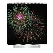 Fireworks Exploding Shower Curtain