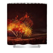 Fireworks Finale Shower Curtain by Robert Bales