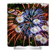 Fireworks Flower Abstract Shower Curtain