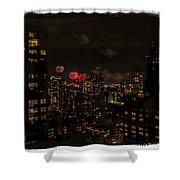 Fireworks From My Window 1 - Manhattan Shower Curtain