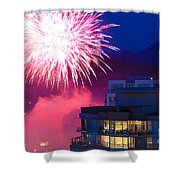 Fireworks In The City Shower Curtain