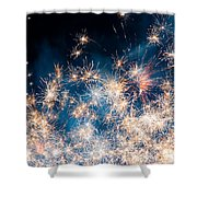 Fireworks In The Sky Shower Curtain by Gianfranco Weiss