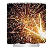 Fireworks Shower Curtain by Lori Seebeck