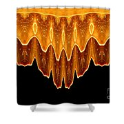 Fireworks Melting Abstract Shower Curtain
