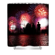 Fireworks Shower Curtain by Nishanth Gopinathan
