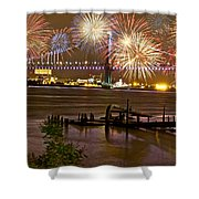 Fireworks On The Ben Shower Curtain