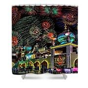 Fireworks Over Atlantic City Shower Curtain