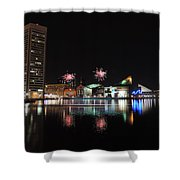 Fireworks Over Downtown Baltimore Shower Curtain