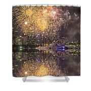 Fireworks Over Sydney Opera House Shower Curtain
