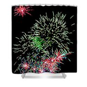 Fireworks Over The Bay Shower Curtain