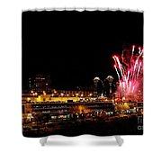 Fireworks Over The Kansas City Plaza Lights Shower Curtain