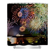 Fireworks Over The Museum Shower Curtain