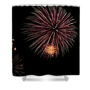 Fireworks Panorama Shower Curtain by Bill Cannon