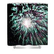 Fireworks Splendor Shower Curtain