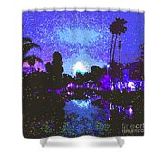 Fireworks Venice California Shower Curtain by Jerome Stumphauzer