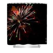Fireworks2 Shower Curtain
