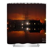 Firey Fog Shower Curtain
