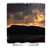 Firey Sky Shower Curtain