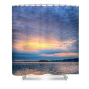Firey Sunrise Shower Curtain