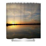 Firey Sunset Shower Curtain