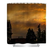 Firey Sunset Over Grants Pass Shower Curtain
