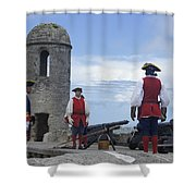 Firing Of The Cannon 4 Shower Curtain