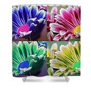 Firmenish Bicolor Pop Art Shades Shower Curtain